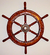 Original pilot's wheel from a client's 1935 Herreshoff Ketch